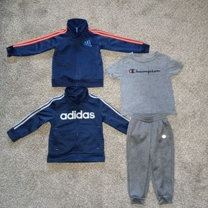 Pre-owned gently used 2 adidas jackets/champion